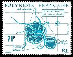 POLYNESIE 1990 - Yv. 357 **   Cote= 3,90 EUR - Le Monde Mahori: Ile De Tahiti  ..Réf.POL24013 - Polynésie Française