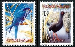 POLYNESIE 1990 - Yv. 360 Et 361 **   Cote= 1,85 EUR - Oiseaux Marouette Et Lori (2 Val.)  ..Réf.POL24015 - Polynésie Française