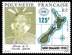 POLYNESIE 1990 - Yv. 363 ** SUP  Faciale= 1,05 EUR - New Zealand 1990, Expo Phil.  ..Réf.POL24017 - Polynésie Française