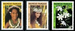 POLYNESIE 1990 - Yv. 371 372 Et 373 **  Faciale= 0,80 EUR - Tiare Tahiti (Gardenia  Tahitensis) (3 Val.)  ..Réf.POL24024 - Polynésie Française