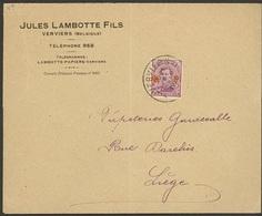 Enveloppe De 1920 Avec Nr 154 De Vervviers Vers Liege - 1918 Rotes Kreuz