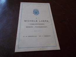B688  Casalborgone Torino Prenzo Menu' Michele Luera Cm14x9 - Menu