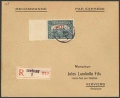 Enveloppe De 1920 Avec Nr 160 De Vervviers - 1918 Croix-Rouge