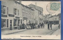 NOGENT-en-BASSIGNY      Place Du Collège    Magasin  Vve Baudet Mercerie    Animées            écrite En 1906 - Nogent-en-Bassigny
