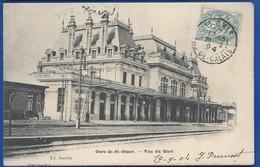 St OMER   Gare   écrite En 1904 - Saint Omer