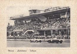 Monza-autodromo-tribuna- CORSA CON AUTO-CARTOLINA NON VIAGGIATA ANNO 1950-1955 - Monza