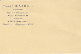 Uccle, Tennis Beau Site Club Privée. - Trading Cards