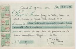 Gent, Gand Chèque De 1936. - Chèques & Chèques De Voyage