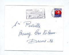 Lettre Flamme Melun Lutece Briarde Pont - Marcophilie (Lettres)