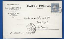 Carte A  Entête D'Entreprise  Houilles-Cokes   Fernant LACOMBE  SAINT-DIZIER   écrite En 1929 - Saint Dizier
