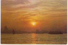 °°° 13492 - CHINA - DAWNING OVER THE HUANGPU RIVER - 1982 With Stamps °°° - Cina