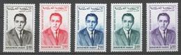 Morocco 1962 Mi# 480-84** KING HASSAN II (see Scan) - Maroc (1956-...)