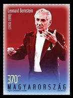 Hungary 2018 Mih. 5943 Music. Composer Leonard Bernstein MNH ** - Hongrie
