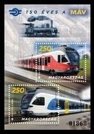 Hungary 2018 Mih. 5988/89 (Bl.416) Hungarian State Railways. Trains. Locomotives MNH ** - Neufs