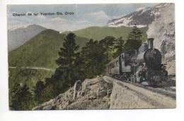 Chemin De Fer YVERDON-STE. CROIX Bahn Dampflokomotive - VD Vaud