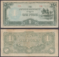 Oceania 1 Pound ND 1942 (VF) Condition Banknote Japanese Occupation P-4 - Banknotes