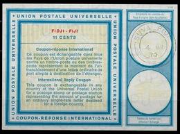FIDJI FIJI Vi19 11 CENTSInternational Reply Coupon Reponse Antwortschein IAS IRC O SUVA FIJI 4.3.70 - Fiji (1970-...)