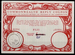 FIJI FIDJI FIDSCHI Co17 8c / 5 CENTS Commonwealth Reply Coupon Reponse Antwortschein IRC issued SUVA FIJI 09.09.71 - Fiji (1970-...)
