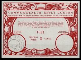 FIJI FIDJI FIDSCHI Co17 8 CENTS Commonwealth Reply Coupon Reponse Antwortschein IRC issued SUVA FIJI 22.01.75 - Fiji (1970-...)