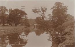 AO15 The Derwent At Chatsworth - 1920's Judges Postcard - Derbyshire