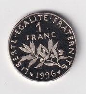 1 Franc Semeuse, Nickel, BE (Belle Épreuve) 1996 - France