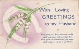 AS69 Greetings - With Loving Greetings To My Husband - Holidays & Celebrations