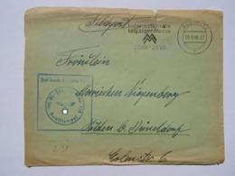 1940 DR Gleiwitz Brief Feldpost Pmk Internationale Leipziger Messe - Germany