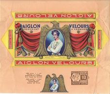Emballage Superbement Illustré Chocolat AIGLON -Tablette 175 Grs AIGLON VELOURS à Croquer +Timbre SPIROU-SCOLA ROBBEDOES - Publicités