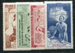 INDOCHINE  ( AERIEN )  Y&T  N°  20/23  TIMBRES  NEUFS  SANS  TRACE  DE  CHARNIERE . - Indochine (1889-1945)