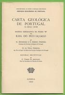 Pico - Carta Geológica De Portugal + Mapa (B) - Açores - Geographical Maps
