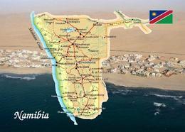 Namibia Country Map New Postcard Landkarte AK - Namibia