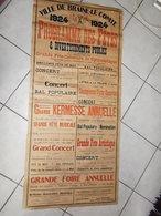 BRAINE LE COMTE    PROGRAMME DES FÊTES  1924   1 Mètre 70 X 85 Cm - Manifesti