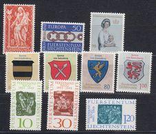 Liechtenstein 1965 Year 10v (see Scan) ** Mnh (43915) - Liechtenstein