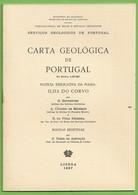 Corvo - Carta Geológica De Portugal + Mapa - Açores - Geographical Maps