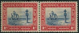 SWA 1931. Michel #142/43 MLH/Luxe. Portuguese Cross, Cape Cross. Ship (Ts10) - Zuidwest-Afrika (1923-1990)