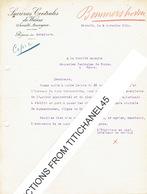 BERGILERS 1925 Lettre De La RAPERIE DE BERGILERS à La SUCRERIES CENTRALES DE WANZE - Belgique