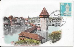 Lucerne : Carte Philatélique : Kappelbrücke & Waserturm. (Voir Commentaires) - LU Lucerne