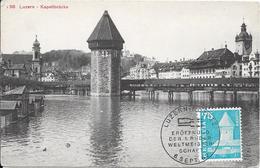 Lucerne : Carte Philatélique : Kappelbrücke. (Voir Commentaires) - LU Lucerne