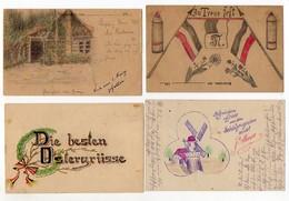 Y5321/ 7 X Handgemalte AK 1. Weltkrieg Feldpost  Ostern Etc.  - Cartes Postales
