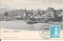 Lucerne : Gruss Aus Luzern : Cachet Philatélique. (Voir Commentaires) - LU Lucerne
