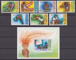 Grenada Grenadines 01.07.1976 Mi # 193-99 Bl 23 Montreal Summer Olympics MNH OG - Verano 1976: Montréal
