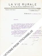 Lettre 1939 SAINT-SERVAIS - LA VIE RURALE - Journal - Belgique