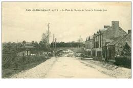 35.BAIN-DE-BRETAGNE.N°31.LE PONT DU CHEMIN DE FER ET LE POINT DU JOUR.TRAIN.RARE - Frankreich