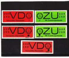 DDR491 DDR 1966 ZKD VD3,3AD 4a,ZU2 AD Mit AUFDRUCK Für Neue DIENSTBRIEFE SIEHE ABBILDUND - Service