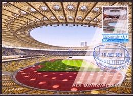 UKRAINE 2019 Maxi Card Football Soccer National Sports Complex Olympic Stadium In Kiev Architecture #112 - Ukraine