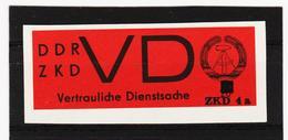 DDR485 DDR 1965 AUFDRUCK ZKD 4a Michl 3 U Für Neue DIENSTBRIEFE SIEHE ABBILDUND - Service