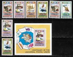 Bhutan 1974 Centenary Of Universal Postal Union UPU Stamp S/S MNH - Bhoutan
