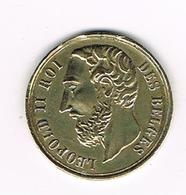 //   PENNING LEOPOLD II ROI DES BELGES - SOUVENIR DU CONCOURS INTERNATIONAL GAND 1874 - Royaux / De Noblesse