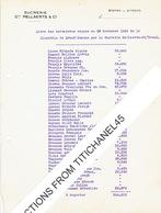 SINT-TRUIDEN 1936 - SUCRERIE Gme MELLAERTS & Cie : Liste Des Betteraves Reçues De La Clientèle De GROOT-GELMEN (2 Pages) - Belgique