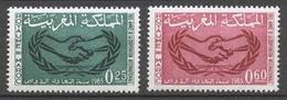 Morocco 1965 Mi# 548-49** INTERNATIONAL COOPERATION YEAR - Maroc (1956-...)